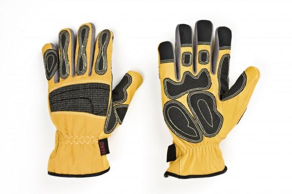 feuerwehr-thl-technische-hilfeleistung-kevlar-carbonbeschichtung-hirschleder-polyamid-spandex-karabiner-ring-pu-amara-handschuhe-hsw91158-gelb-askö-askoe-deer-skin