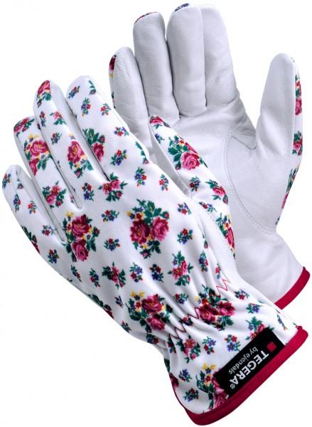 arbeit-arbeitshandschuhe-ziegenleder-ziegennarbenleder-nylon-rosenmuster-tegera-home-gummizug-90014