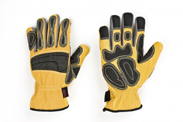 feuerwehr-thl-technische-hilfeleistung-kevlar-carbonbeschichtung-hirschleder-polyamid-spandex-karabiner-ring-pu-amara-handschuhe-hsw91144-gelb-askö-askoe-deer-skin