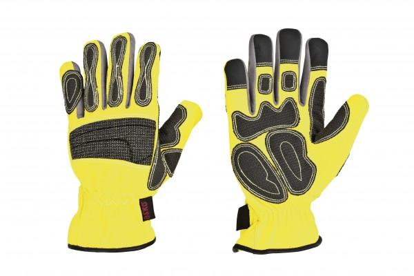 feuerwehr-thl-technische-hilfeleistung-kevlar-carbonbeschichtung-hirschleder-polyamid-spandex-karabiner-ring-pu-amara-handschuhe-hsw91144-neongelb-askö-askoe-deer-skin
