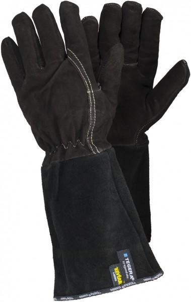 arbeit-schnittschutz-ziegenveloursleder-kevlar-nomex-gummizug-handschuhe