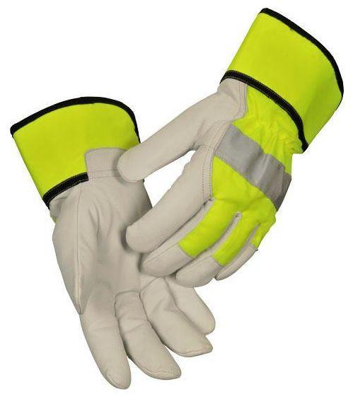 arbeit-ziegenleder-ziegenvollleder-handschuhe-arbeitshandschuhe-leuchtgelber-handruecken-reflexstreifen-gefuettert-hsw91501
